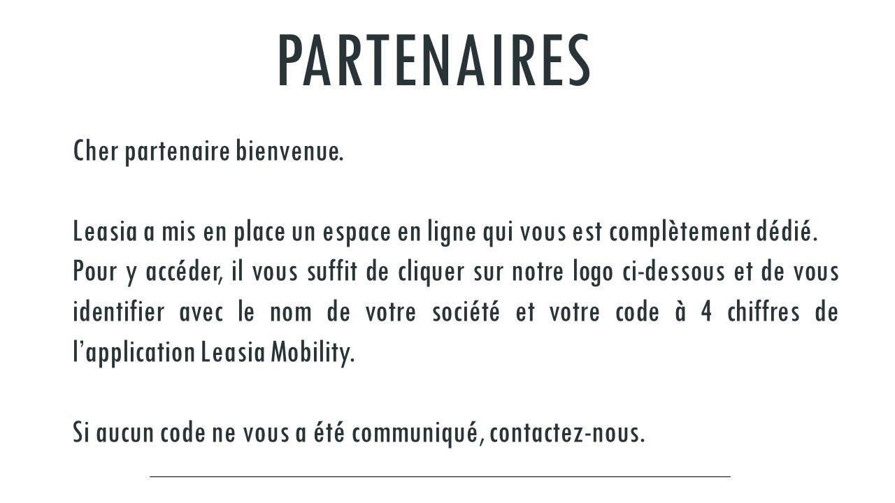 Page Partenaire Leasia